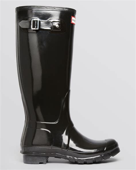 black gloss boots lyst boots original gloss in