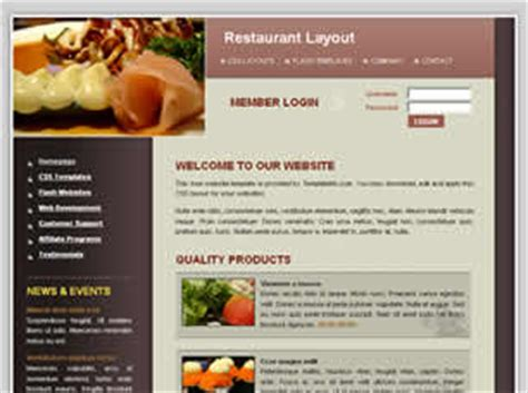 restaurant free website template free css templates