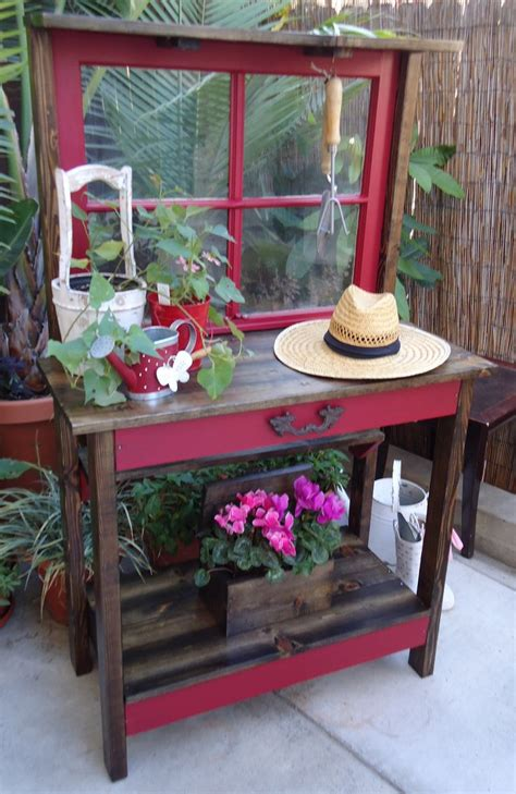 vintage potting bench vintage window potting table sold home and garden