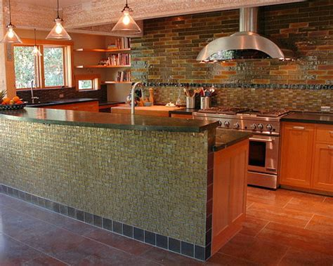 rustic and warm kitchen with earthy tones and warm