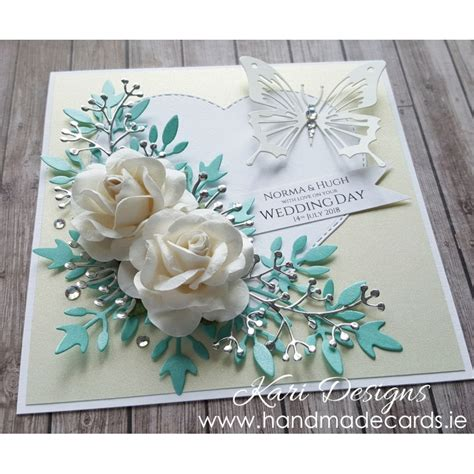 Wedding Handmade Card - handmade wedding card