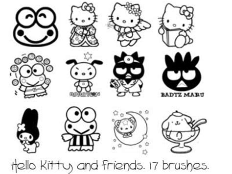 printable coloring pages of hello kitty and friends hello kitty and friends coloring pages gt gt disney coloring