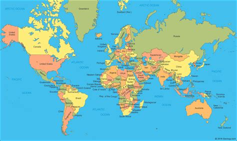 all countries world map world map a clickable map of world countries