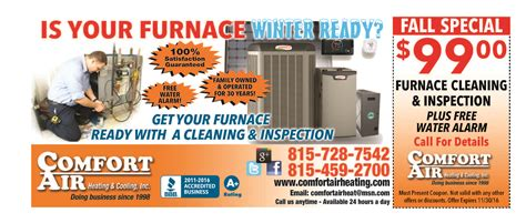 southern comfort heating and cooling coupons comfort air heating cooling inc