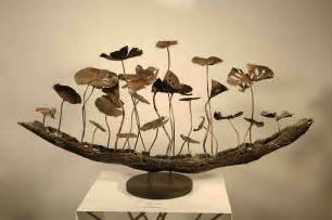 metal sculpture lotus pond hotel decoration home decor