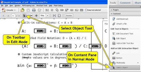 javascript tutorial adobe figure 1 activating the select object tool causes the