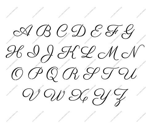 Vorlagen Schrift by Free Printable Alphabet Stencil Letters Template