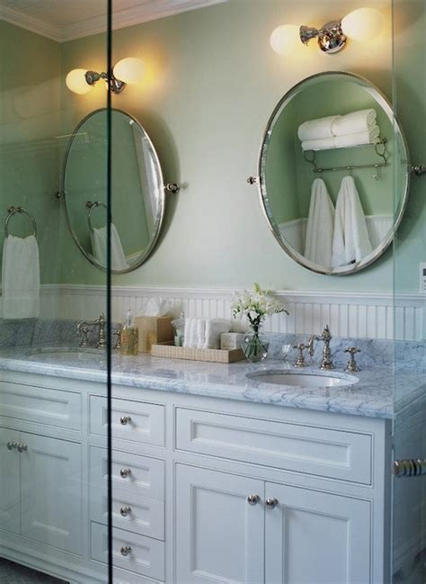 oval pivot mirrors cottage bathroom jennifer worts