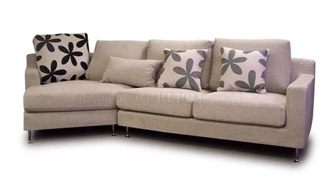 light beige fabric modern sectional sofa w metal legs