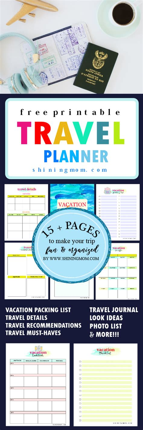 printable journey planner 15 free trip planner printables for your next vacation