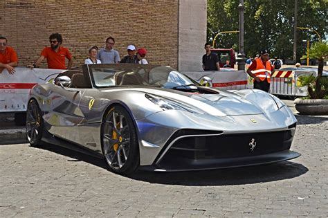 chrome ferrari silver chrome ferrari f12 trs snapped in rome gtspirit
