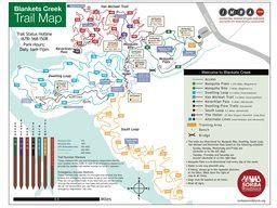 Blankets Creek Trail Map by Blankets Creek Mountain Bike Trail System Maplets