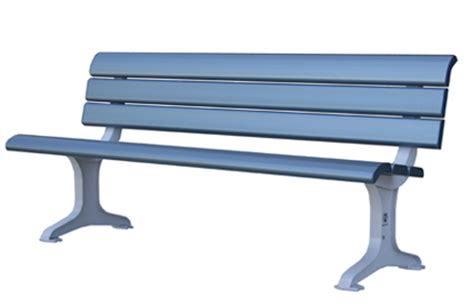 aluminium bench seat public seats exteria street park outfitters