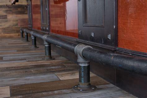 bar foot rail black pipe foot rail 44 1 2 quot length 1 2 of 8 foot rail