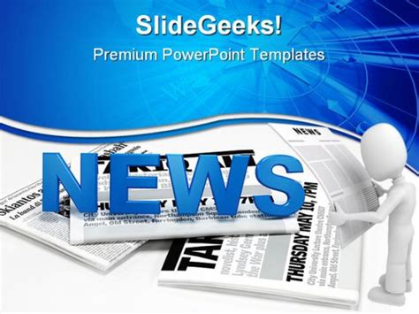 newspaper theme presentation news global powerpoint backgrounds and templates 1210