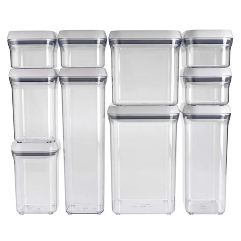 Kitchen Cabinet Supplier by 10 Piece Pop Container Set Oxo