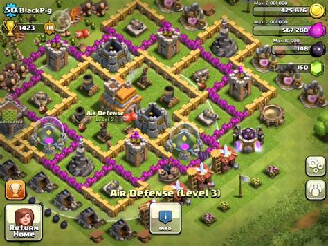 hd town hall 7 clash of clans top defanes twon hall 7 hd new style for