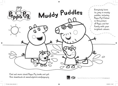 peppa pig muddy puddles coloring pages peppa pig muddy puddles colouring scholastic kids club