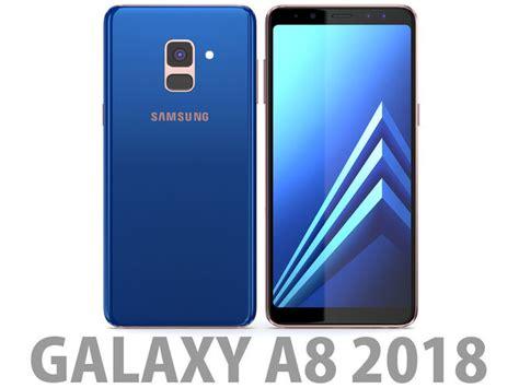 Samsung Galaxy A8 Blue 3d samsung galaxy a8 2018 blue cgtrader