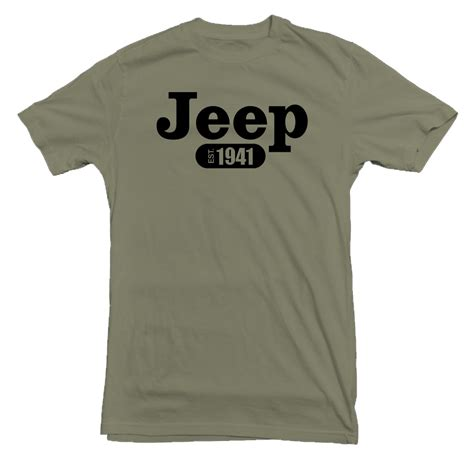 Jeep T Shirt jeep green t shirt justforjeeps mg104