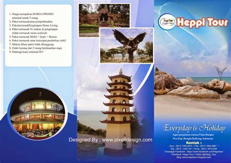 Stiker Untuk Usaha Restoran Model 2 contoh desain brosur iklan travel agen wisata paling