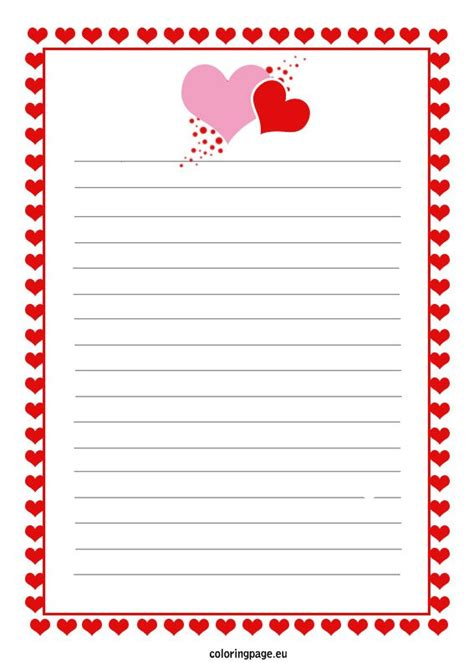 printable love letter coloring page