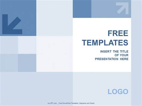Blue Squares And Aroww Powerpoint Templates Design Squares Powerpoint Template