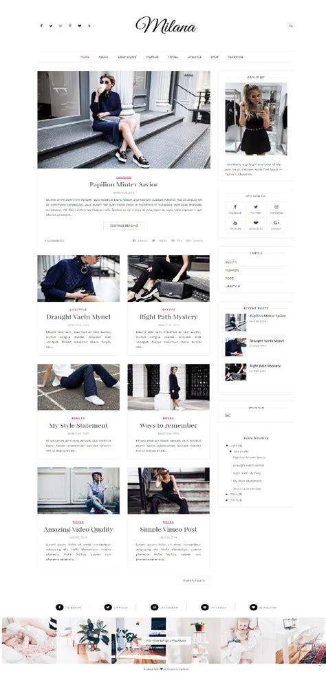 50 free fashion blogger templates for fashion blogs