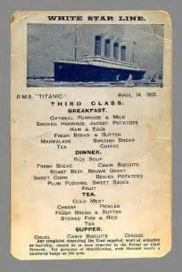 Titanic Breakfast Menu | 301 moved permanently