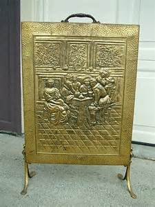 Vintage Brass Fireplace Screen by Antique Hammered Brass Fireplace Hearth Screen