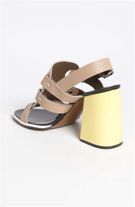 block heel black sandals marni block heel sandal in black lyst