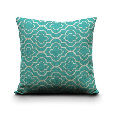 Geometric Pillow Covers Cushion Covers Turquoise Cushion Decorative Sofa Pillow Covers