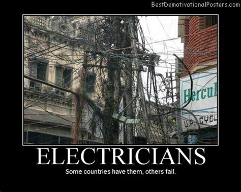 Electrical Meme - electricians fail demotivational poster