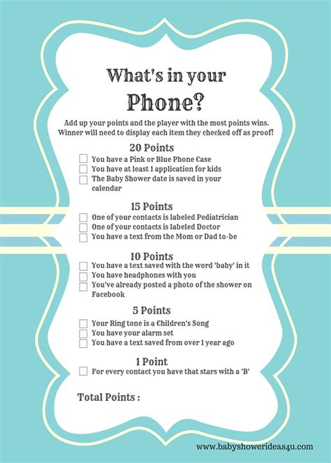 What Is A Baby Shower by Free Printable Modern What S In Your Phone Baby Shower