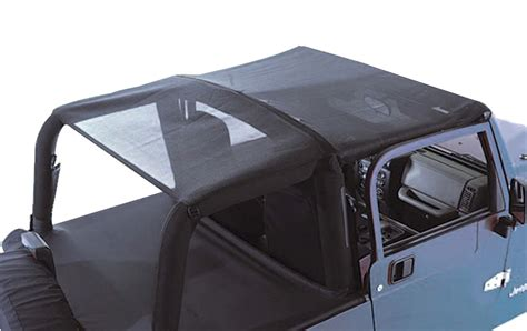 bar top accessories rugged ridge mesh roll bar top