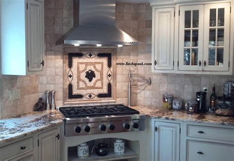 kitchen backsplash medallions ideas for kitchen backsplashes this kitchen