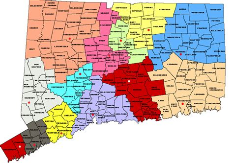 map of ct towns map of connecticut