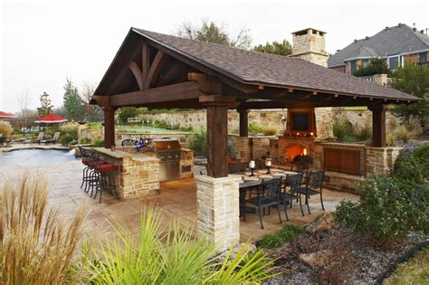 covered outdoor kitchen outdoor kitchens