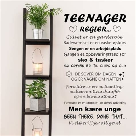 wall stickers for teenagers regler wallsticker med regler for teenageren