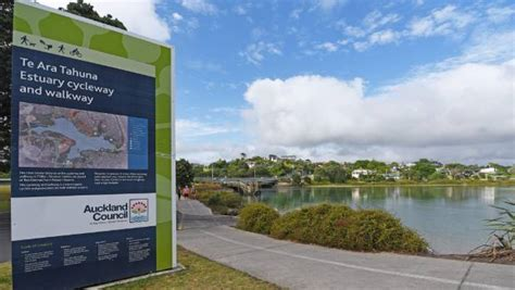 boat r orewa boy clipped by cyclist on the te ara tahuna estuary