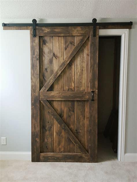 Barn Door Company Barn Door Sliding 2 Panel Z Style Walston Door Company