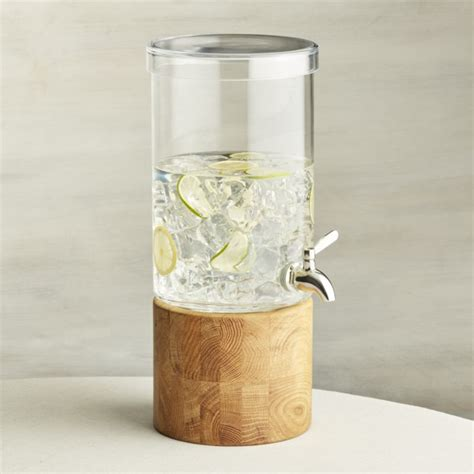 Refreshment Glass Drink Dispenser Crate And Barrel
