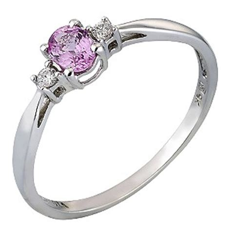 9ct white gold pink sapphire and ring h samuel