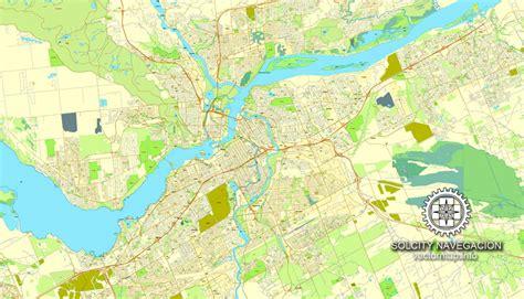 ottawa on map of canada ottawa map in adobe pdf printable city plan map of ottawa