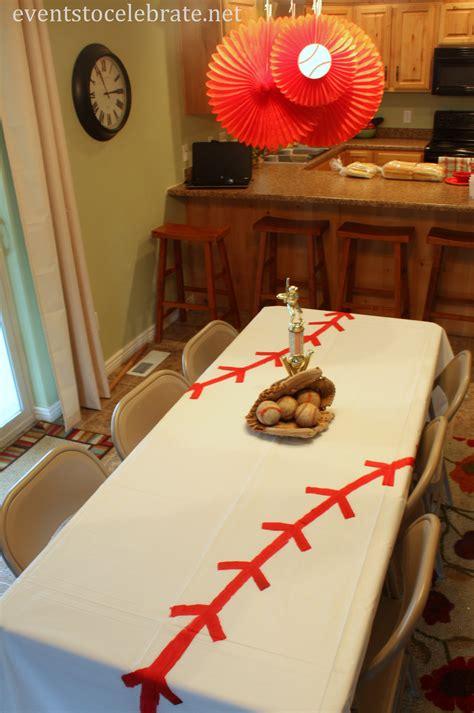 baseball theme decorations diy baseball tablecloth events to celebrate baseball