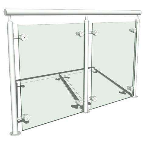 Banisters For Sale Glass And Metal Railing 3d Model Formfonts 3d Models