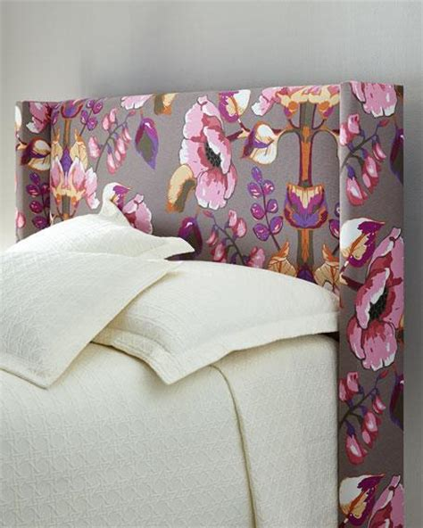 floral headboard pink and gray floral wingback headboard