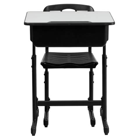 student desk and chair mfo adjustable height student desk and chair with black