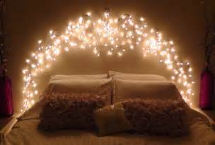 lights around bed diy icicle light faux headboard