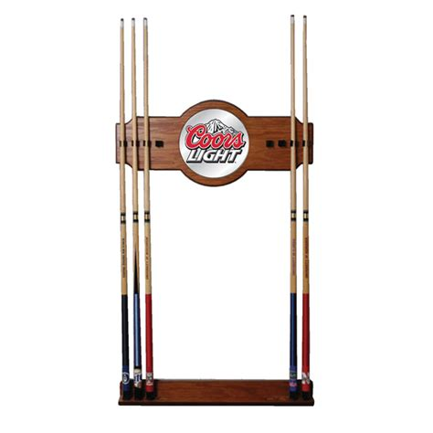 Billiard Wall Rack by Coors Light Billiards Pool Cue Stick Wall Rack Ebay